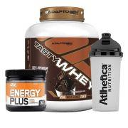 Kit Tasty Whey 5LB Chocolate + Energy Plus Orange + Bottle