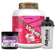 Kit Tasty Whey 5LB Strawberry + Energy Plus Grape + Bottle