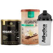 Vegan Delight 250g + VeganPro 550g Baunilha + Bottle