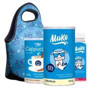 Whey Baunilha Muke 450g + Bolsa + Cappucino +Garrafinha