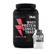 Whey Concentrado Dux 900g Chocolate + Bcaa 60 Caps