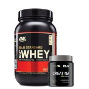 Kit Whey Gold Standard 900g Chocolate + Creatina 300g - Dux