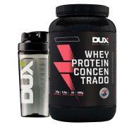 Kit Whey Protein Concentrado 900g Banana + Coqueteleira Dux