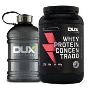 Whey Protein Concentrado 900g Dux Cookies + Galão Dux