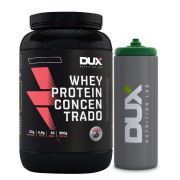 Kit Whey Protein Concentrado Banana - Dux + Squeeze Prata