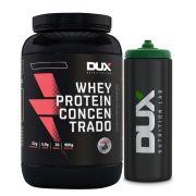 Kit Whey Protein Concentrado Banana - Dux + Squeeze Preto