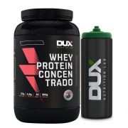 Whey Protein Concentrado Baunilha - Dux + Squeeze Preto