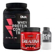 Whey WPC 900g Banana + Bcaa 120 Caps + Creatina 300g