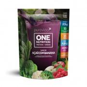 One Nutrition Vegan Proteins + Greens Açai com Banana 450g - PuraVida