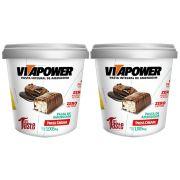 Pasta de Amendoim 1Kg 2 Un Press Cream Vitapower