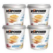 Pasta de Amendoim 1Kg Blank 4Un Vitapower