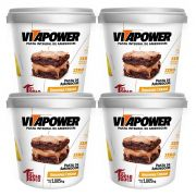Pasta de Amendoim 1kg Brownie 4 Un Cream Vitapower