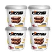 Pasta de Amendoim 1kg Brownie 4 Un Cream Vitapower