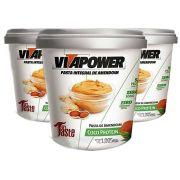 Pasta de Amendoim 1Kg Coco 3 Un Vitapower