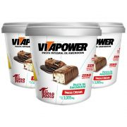 Pasta de Amendoim 1Kg Press Cream Vitapower 3 Unidades