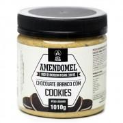 Pasta de Amendoim Amendomel 500g Choc Branco com Cookies