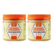 Pasta de Amendoim Integral 1Kg  Choc Branco Crocante 2 Un