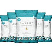 Pipoca Artesanal 150g Caramelo e Coco 5 Un - Mais Pura