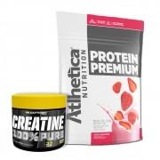Protein Premium Morango 1,8Kg e Creatina 100g