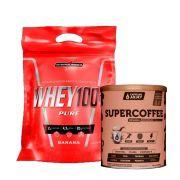 Super Whey 100% 900g Banana + Supercoffee 2.0 220g
