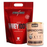 Super Whey 100% 900g Chocolate + Supercoffee 220g