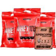Super Whey 100% 900g Cookies 3 Un + Supercoffee 2.0 220g