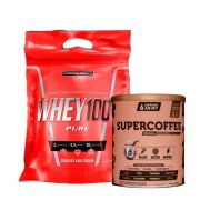 Super Whey 100% 900g Cookies + Supercoffee  2.0 220g