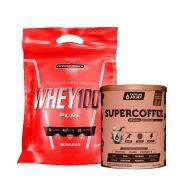Super Whey 100% 900g Morango + Supercoffee 2.0 220g