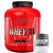 Super Whey 3W 1,8Kg Chocolate + Creatine 100% Pure 100g