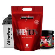 Whey 900g Baunilha + Neuro Xtreme Laranja C/ + Bottle 500ml