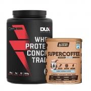 Supercoffe Vanilla Latte 220g e Whey Concentrado Dux Chocolate 900g