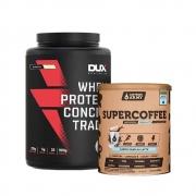 Supercoffee Vanilla Latte 220g e Whey Concentrado Dux Baunilha 900g