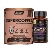 Supercoffee 2.0 220G- Caffeine Army e COQ10 Omega 3  + Natural Vitamin E 60 Caps- Essential