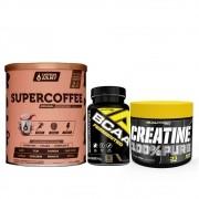 Supercoffee 2.0 220G e Bcaa 90 Caps e Creatina 100g
