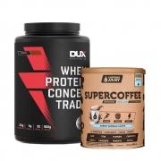 Supercoffee Vanilla 220g e Whey Concentrado Dux Cookies 900g