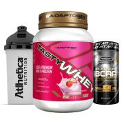 Tast Whey 2 LB Strawberry  + Bcaa Platinum 60 Caps + Bottle