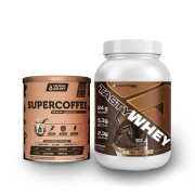 Tasty Whey 2 Lbs Chocolate + Supercoffee 220g