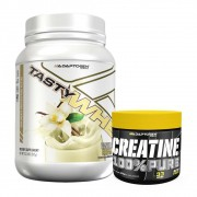 Tasty Whey 900g Vanilla + Creatina 100g Adaptogen