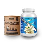 Tasty Whey Vanilla 2.0 Lbs e Supercoffee Choc 220g