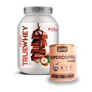 True Whey Chocolate C/ Avelã 837g + Supercoffee 220g