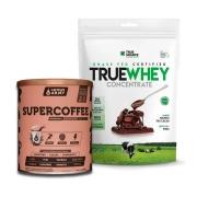 True Whey Concentrado Chocolate 900g e Supercoffee 2.0