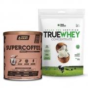 True Whey Concentrado Coconut 900g e Supercoffee 2.0