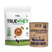True Whey Concentrado Doce de Leite 900g e Supercoffee Choc