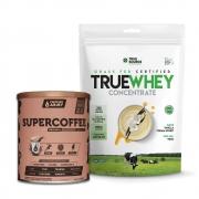 True Whey Concentrado Vanilla Cream 900g e Supercoffee 2.0