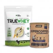 True Whey Concentrado Vanilla Cream 900g e Supercoffee Choc