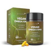 Vegan Ômega 3 DHA 60 Cáps - Omega 3 Vegano Puravida