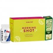 Vitamina C 60 Caps Vitafor + Propolis 70  + Morning Shot