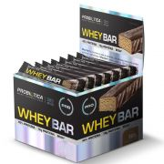 Whey Bar Low Carb Morango - Caixa com 24 un
