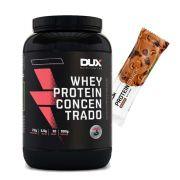 Whey Concentrado 900g Baunilha + Proteinsnack Castanha