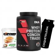 Whey Concentrado 900g Coco + Vitapower 1kg Coco + Coqueteleira